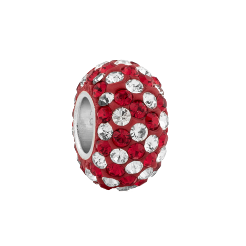 barn red crystal spacer in template